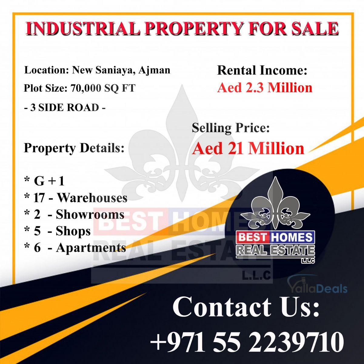 Commercial Property for Sale in New Industrial Area, Ajman